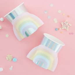 Pappmuggar  - Rainbow - Pastel Party