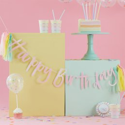 Backdrop - Happy Birthday - Pastel Party