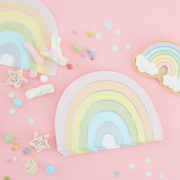 Servetter - Rainbow - Pastel party