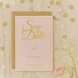 Save the date - Pink Perfection