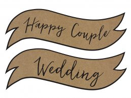Skyltar - Happy Couple/Wedding