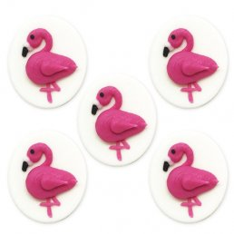 Sockerdekorationer - Flamingos - 5-pack