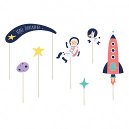 Cake toppers - Space Party