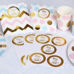 Stickers - Boy or girl - Guld