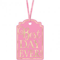 Tags - Best Day Ever - Rosa/Guld