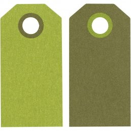 Tags - Lime - 6 cm