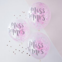 Konfettiballonger - Miss to Mrs