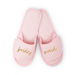 Slippers - Rosa/Guld - Bridesmaid