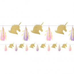 Girlang - Unicorn sparkle - Unicorn/Tassels