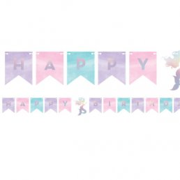 Vimpel - Happy Birthday - Mermaid Shine