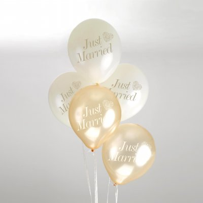 Ballonger - Just Married - Guld