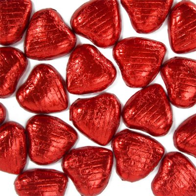 chokladhjärtan i folie