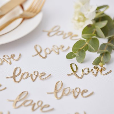 Konfetti - Love - Gold Wedding
