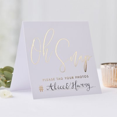 Instagramskylt - Gold wedding