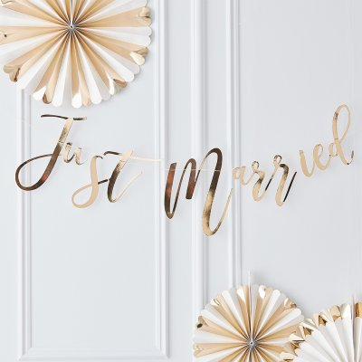 Backdrop - Just Married - Guld