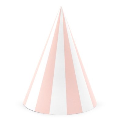 Partyhattar - Stripes - Ljusrosa - Myperfectday.se 8319888431884